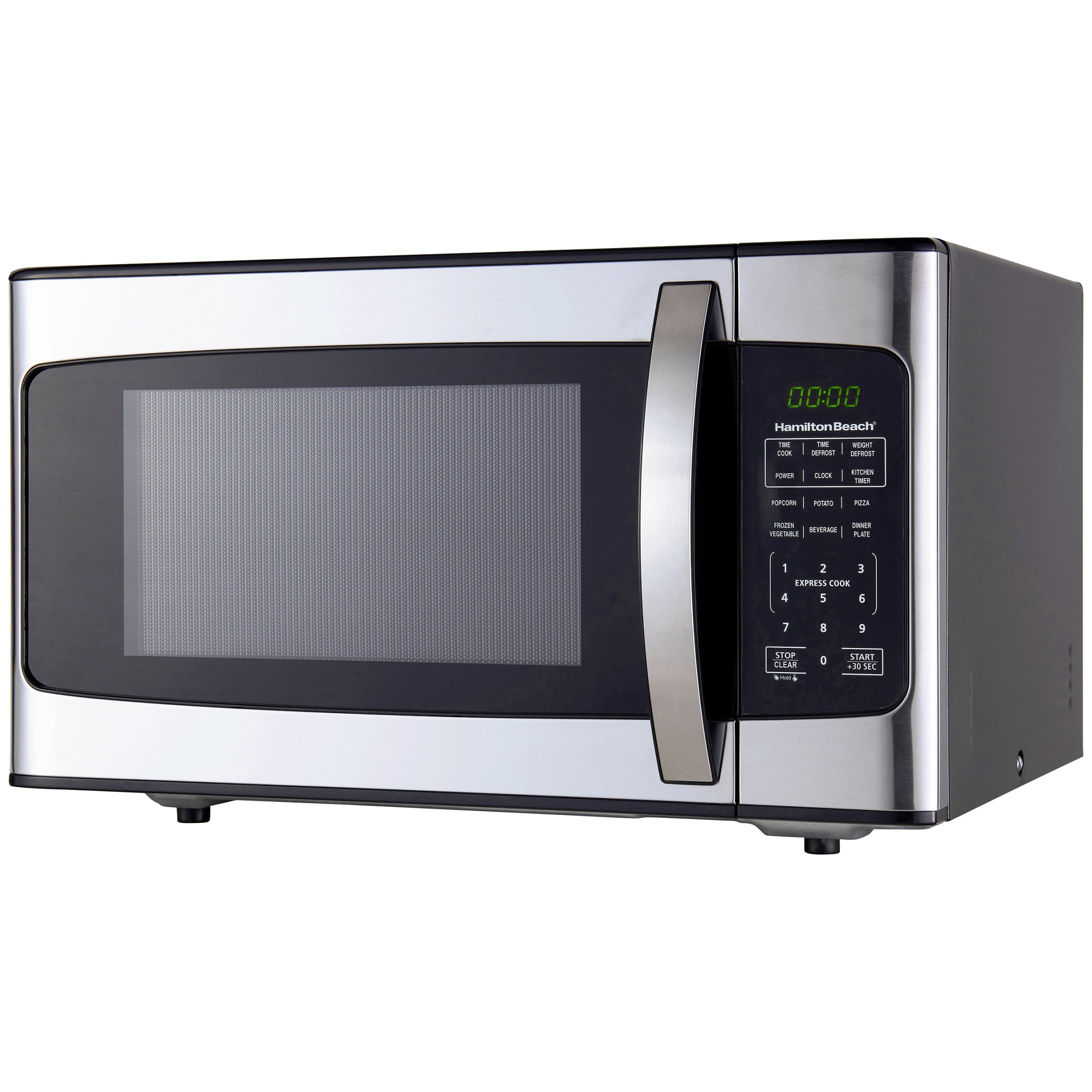 Hamilton Beach 1.1 Cu. Ft. 1000W Stainless Steel Microwave ...