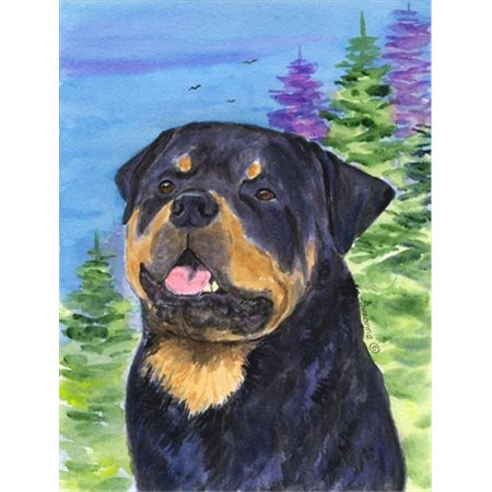 Carolines Treasures SS1026CHF Rottweiler Canvas Flag - House Size, 28 x 40 in. - image 1 of 1