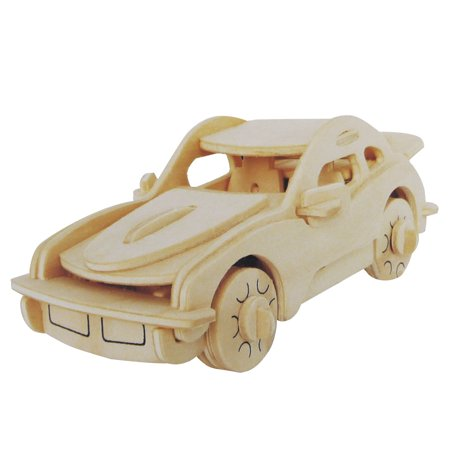 Kid DIY Wooden Car Model Intelligence Puzzle Toy Woodcraft ...