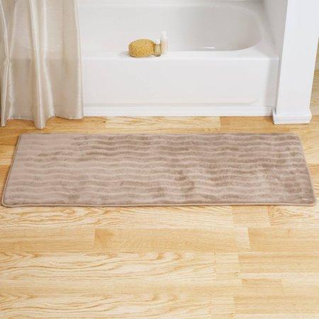 Somerset Home Memory Foam Extra Long Bath Rug Mat Taupe