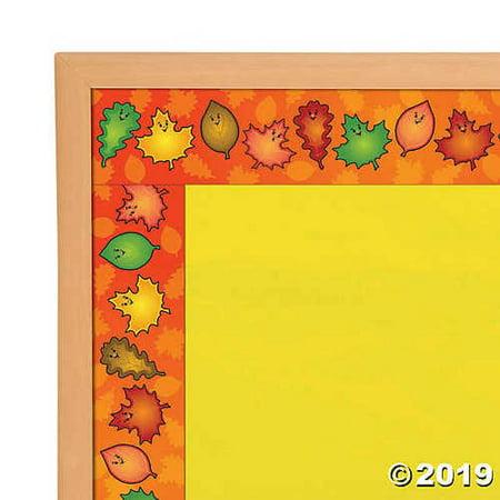 Fall Leaves Bulletin Board Borders - Fall Border
