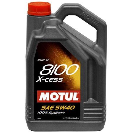 Motul 007250-4PK 8100 X-cess 5W-40 Synthetic Gasoline and Diesel Engine Oil - 5 Liter Jug (Case Case of (Isuzu 5-2 L Diesel Engine Oil Capacity)