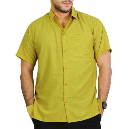 Hawaiian Shirt Mens Beach Aloha Camp Party Holiday Short Sleeve Button Up Down Plain Solid Rayon C Bamboo Mens Aloha Shirt