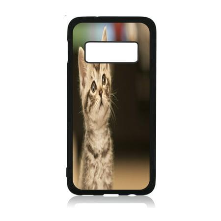 Sweet Kitten Black Rubber Case Cover for The Samsung Galaxy s10e (s10 Edge) - Samsung Galaxy s10e Accessories - Samsung Galaxy s10e Case