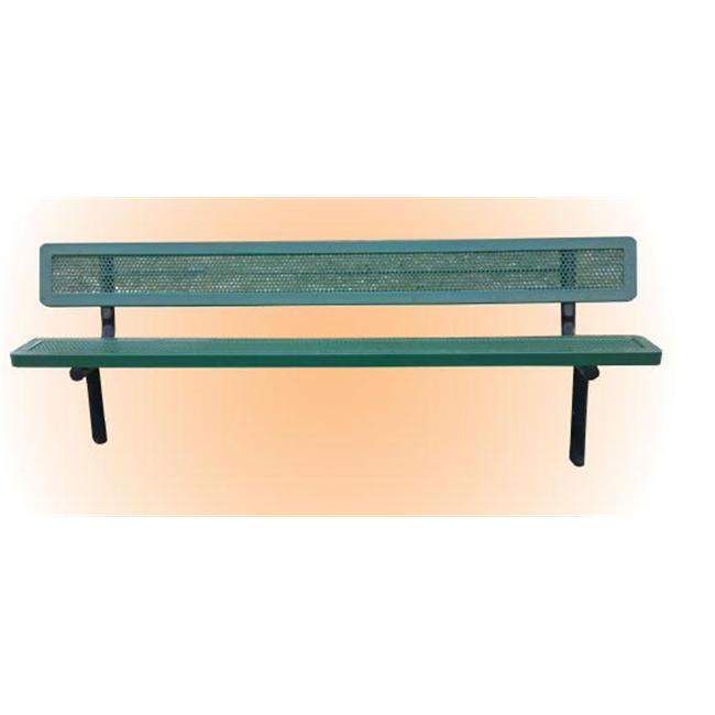 Park n Pool 11BE-013PM Rivendale 6-Feet Perforated Metal Plastic Bench With Back