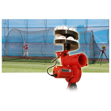Heater Sports 20 ft. Slider Pitching Machine & PowerAlley Batting Cage Package ()