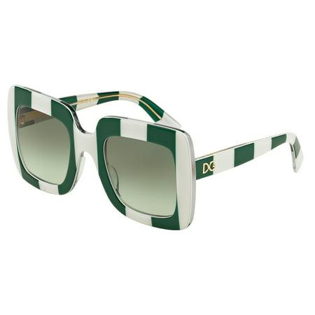 DOLCE & GABBANA Sunglasses DG 4263 30268E Stripe Green/White 50MM