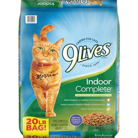 9Lives Indoor Complete Cat Food, 20-Pound Bag (Best Indoor Outdoor Cats)