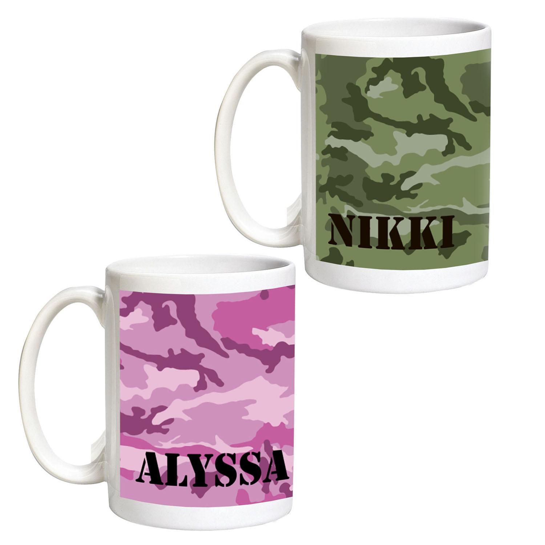 Personalized Camouflage Coffee Mug, 15 oz