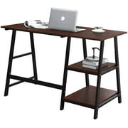 """HouseinBox Computer Desk with Shelves Office Desk Writing Study Table 47"""""""