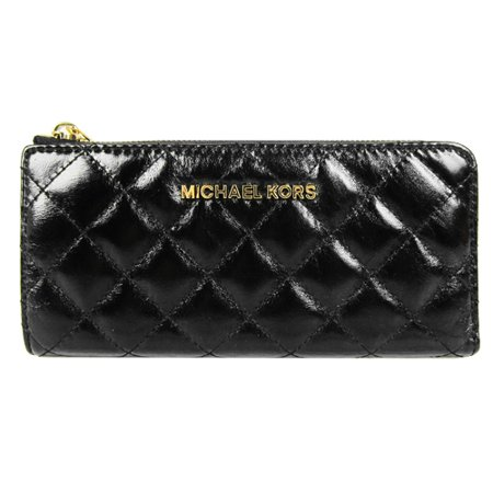4804a90e6f4a MICHAEL Michael Kors - MICHAEL Michael Kors Black Leather Susannah Zip  Around Continental Wallet - 32H4GAHZ3L-001 - Walmart.com