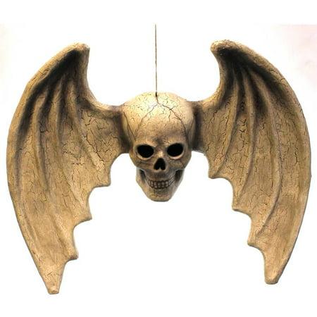 Halloween SKULL WITH WINGS Fabric Bones Hanging - Skelly Bones