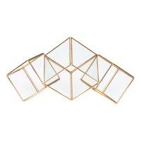 Better Homes & Gardens Brass Tri-Cube Terrarium Planter