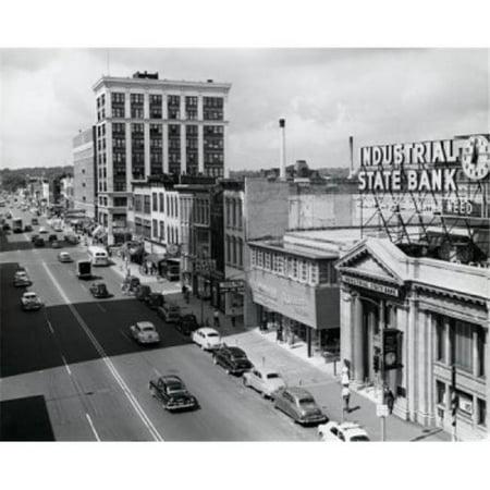Posterazzi SAL25545907 USA Michigan Kalamazoo Traffic on Road in City Poster Print - 18 x 24 - Party City Kalamazoo