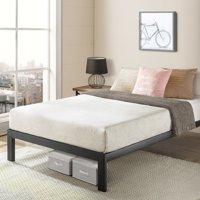 Crown Comfort California King Size Bed Frame Heavy Duty Steel Slats Platform Series Titan C, Black -