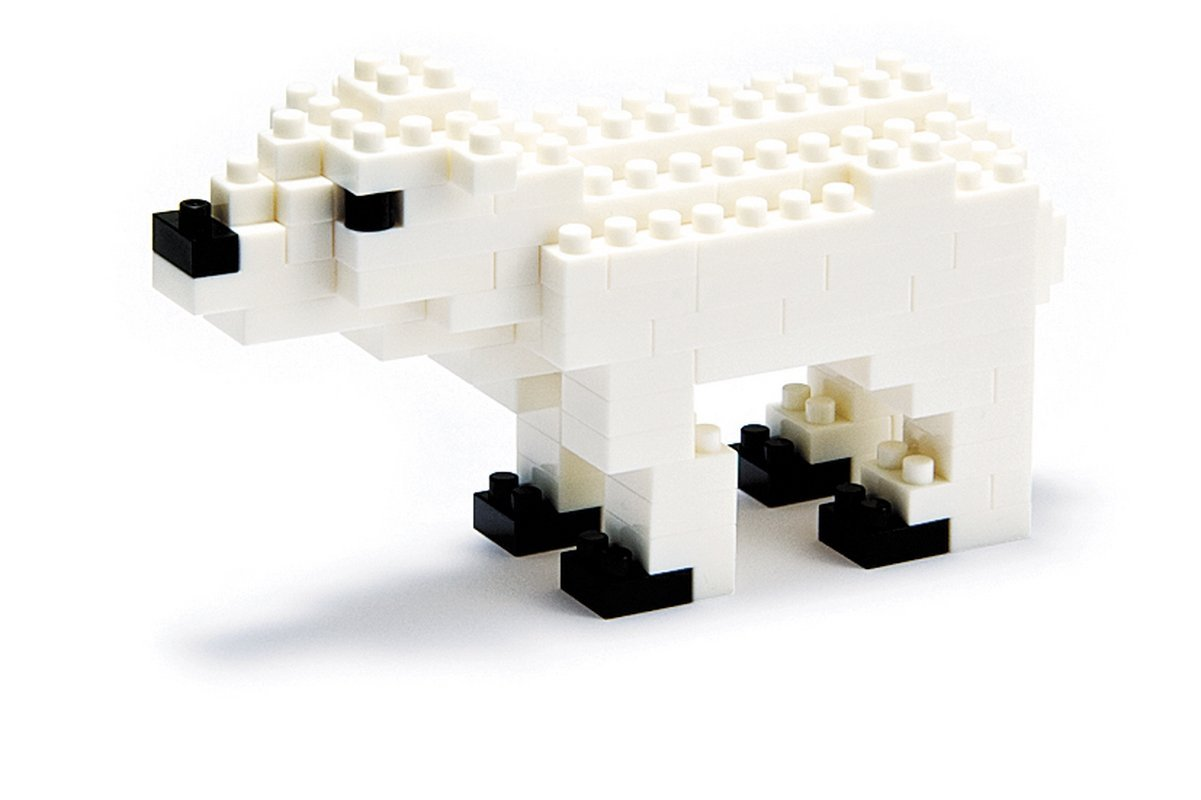 Animals NBC-012 Polar Bear (non-Lego) by Kawada, By Nanoblock by
