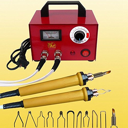 TOPCHANCES 110V 70W Professional Woodburning Detailer Pyrography Machine Wood Burning Kit for Wood Leather,Christmas Nice Present Dual Pointer Display