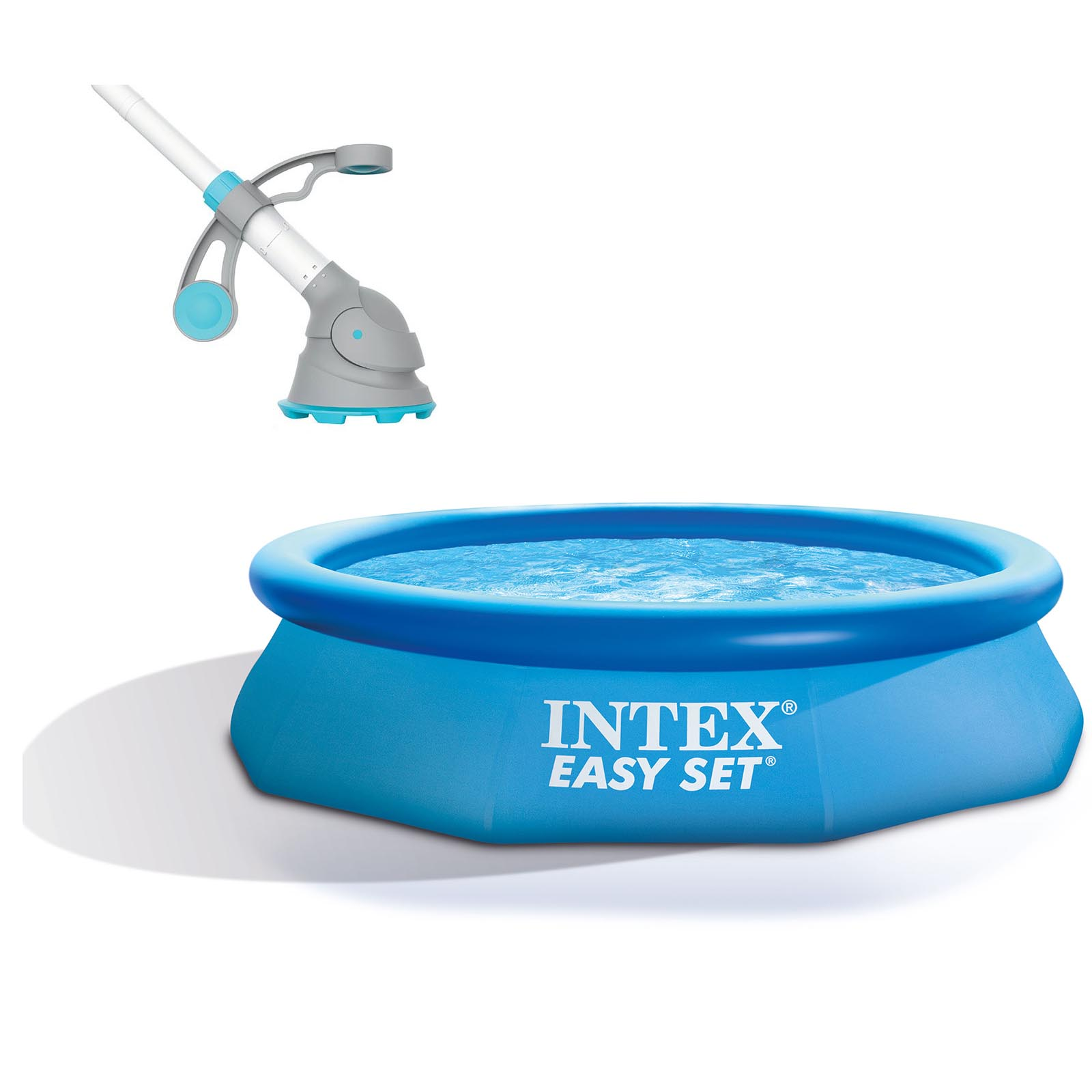 "Intex 10' x 30"" Easy Set Above Ground Pool + Kokido Krill Automatic Vacuum by Intex"