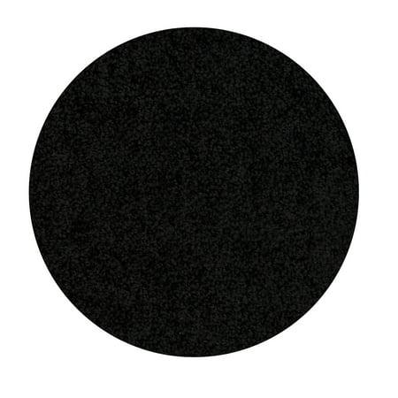 Home Queen Solid Color Black 3' Round - Area Rug ()