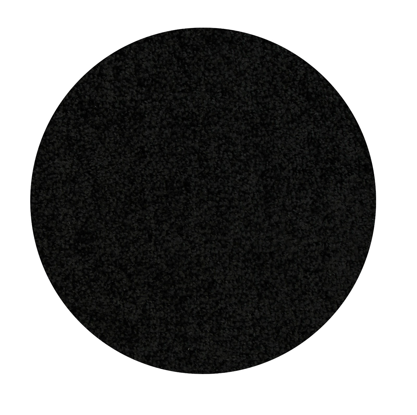 Home Queen Solid Color Black 3' Round - Area Rug