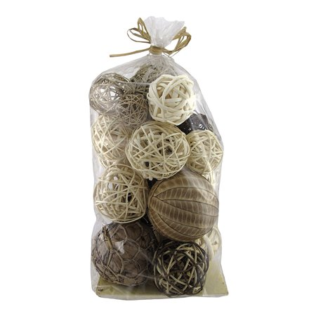 Assorted Natural Decorative Balls Vase Filler 19 Count Walmart