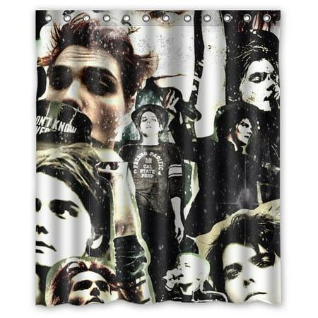 DEYOU The Forward Gerard Way Collage Shower Curtain Polyester Fabric Bathroom Size 60x72 Inch