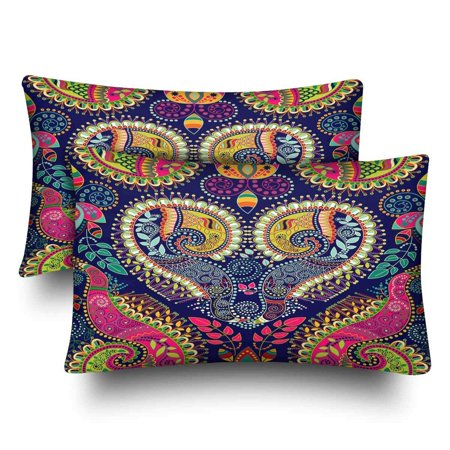 GCKG Colorful Paisley Pillow Cases Pillowcase 20x30 inches Set of 2 - image 4 of 4