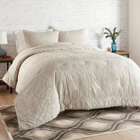 Better Homes & Gardens Full or Queen Clipped Jacquard Comforter Set, 3 (Butterfly Garden Queen)