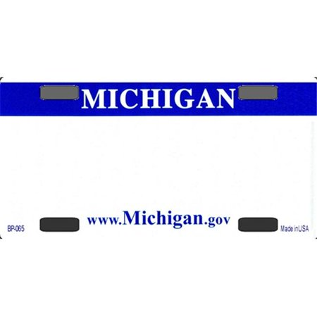 BP-2237 Michigan State Background Blanks Flat- Bicycle License Plates Blanks for Customizing - image 1 of 1