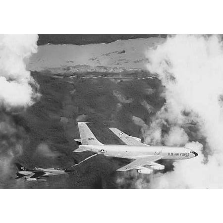Canvas Print KC-135 / F-105, Takhli Royal Thai Air Force Base. Stretched Canvas 10 x 14 Air Force Kc 135