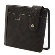"""Religion Men's Leather """"Burnt Cards"""" Wallet One Size Black & White"""