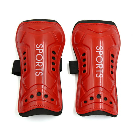 Cool Football Gear (2 Pcs Red Football Shin Pads Soccer Guards Leg Protector Protective Gear for)