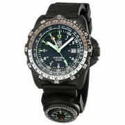 Luminox Men's 8831.KM Land Recon NAV SPC 8830 Black Dial Black Silicone Strap Dive Watch