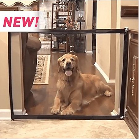 Pets Divider Panel - Dog Safe Guard Magic Gate Pet Dog Safety Barrier/Fences Portable Retractable Dog Safety Gate Dog Room Divider Install Anywhere Pet Safety Enclosure