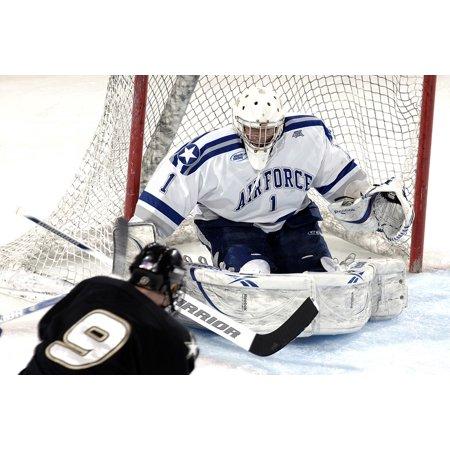 Canvas Print Ice Hockey Defender Goalie Goal Defense Sport Stretched Canvas 10 x 14
