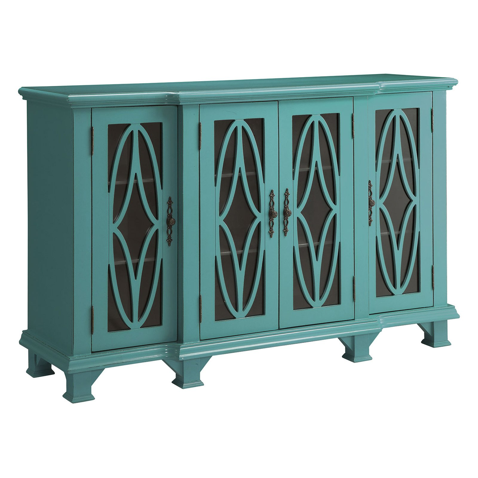 Coaster Company Teal Blue Accent Cabinet