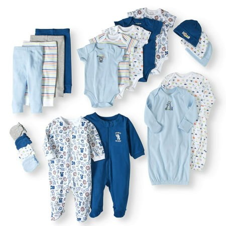 Newborn Baby Boy 20 Piece Layette Baby Shower Gift Set - Communion Gift For Boy