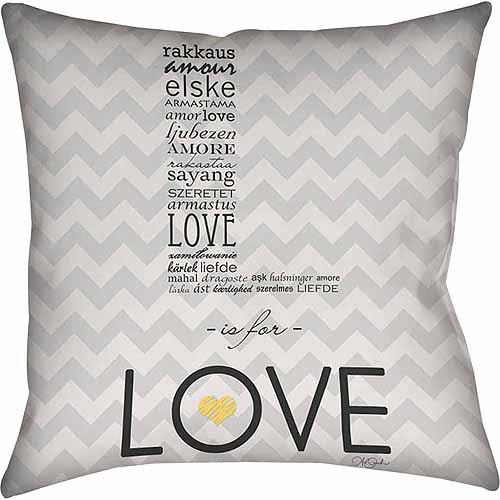IDG L is for Love Indoor Pillow