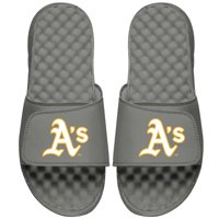 Oakland Athletics ISlide Alternate Logo Slide Sandals - Gray