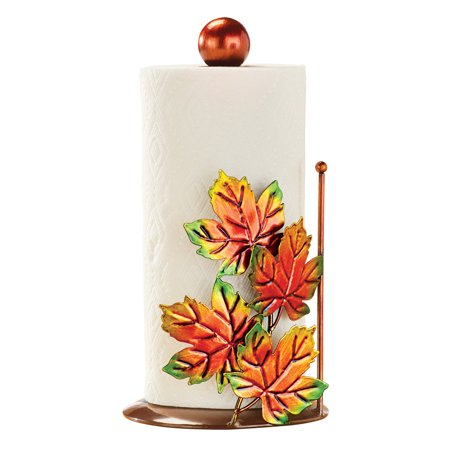 Fall Leaves Metallic Paper Towel Holder, Autumn Kitchen Décor