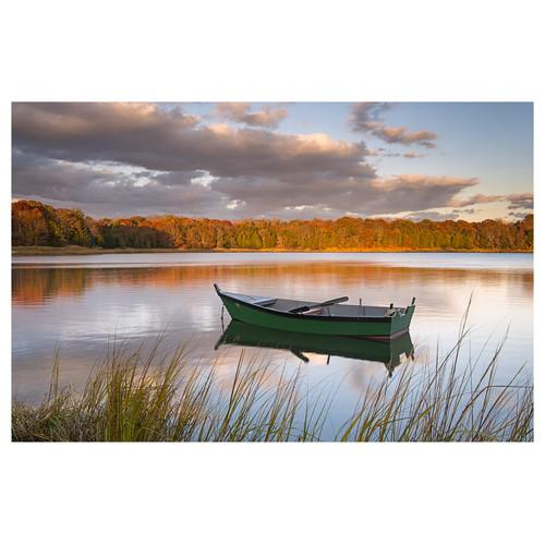 Prestige Art Studios Boat on Salt Pond Photographic Print