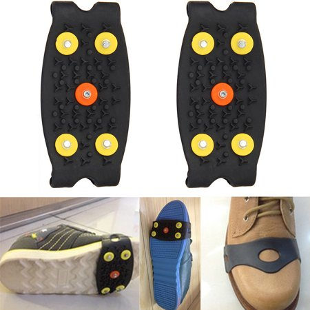 - Mosunx Anti Slip Ice Climbing Spikes Grips Crampon Cleats 5-Stud Shoes Cover