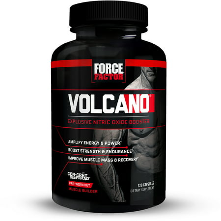 Force Factor VolcaNO Pre Workout Nitric Oxide Booster (Best Proven Testosterone Booster)