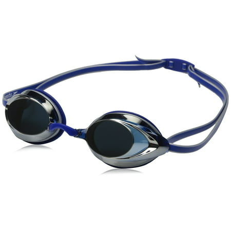 Speedo Vanquisher 2.0 Mirrored Swim Swimming Competition Goggle, Silver/Blue (Speedo Goggle Nose Piece)