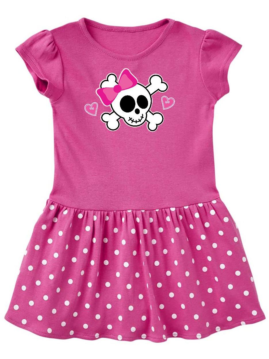 Valentine Holiday Girls Skull Toddler Dress