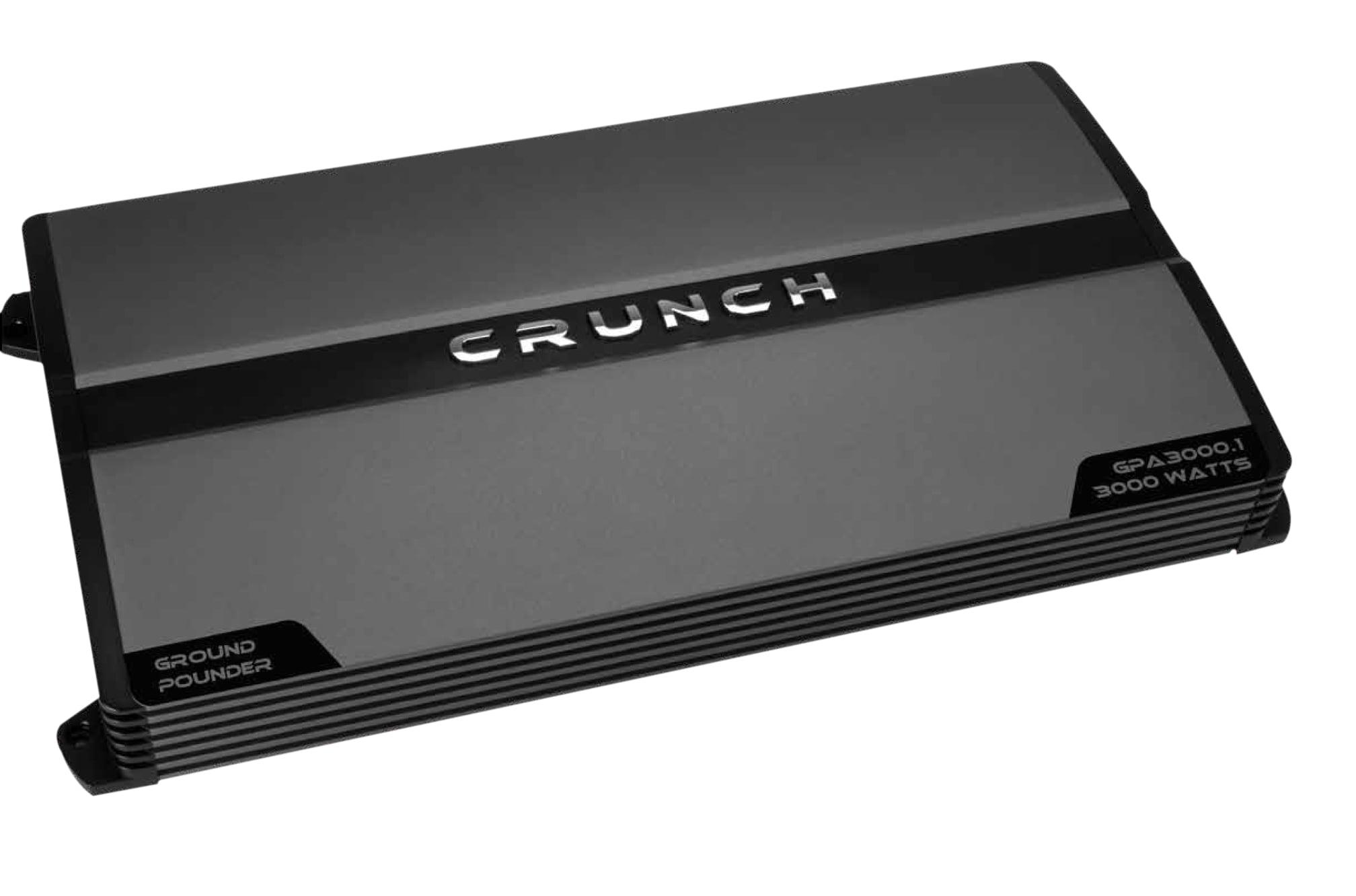 Crunch GPA3000.1 Ground Pounder Monoblock Class AB Amp, 3,000 Watts ...