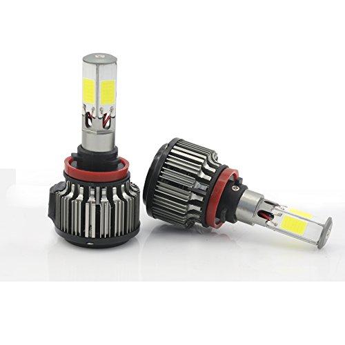 H11 120W 12000LM CREE LED Headlight High/Low Beam Fog DRL Conversion Kit Light Bulbs 6000K White (H11)