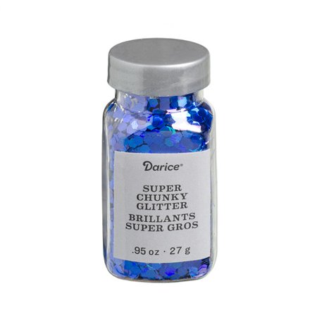 Super Chunky Glitter: Iridescent Blue, .95 ounces (Heavy Multi Glitter)