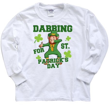 Inktastic Dabbing For St  Patricks Day Leprechaun Youth Long Sleeve T Shirt St