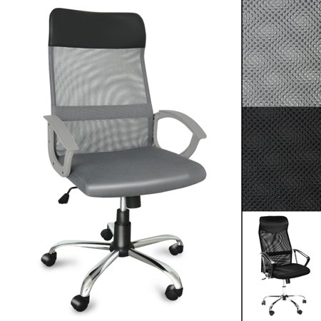 Admirable Office Marshal Computer Desk Chair Tall Ergonomic Swivel Chair For Office Or Home High Mesh Back For Lumbar Support Gray Ibusinesslaw Wood Chair Design Ideas Ibusinesslaworg